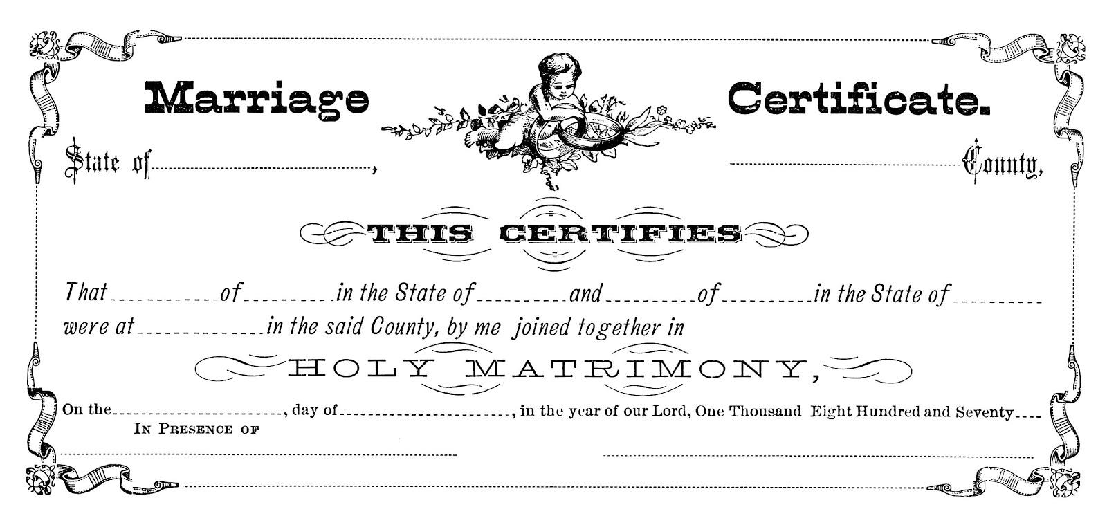 Digital Stamp Design: Free Marriage License Digital Stamp: Victorian ...