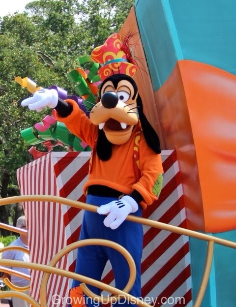Goofy in the Move It Shake It Celebrate It Street Party at Magic Kingdom