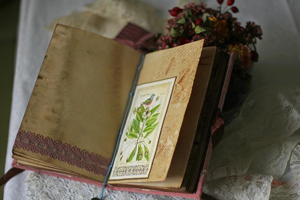 состаренный блокнот, блокнот авторский, личный дневник