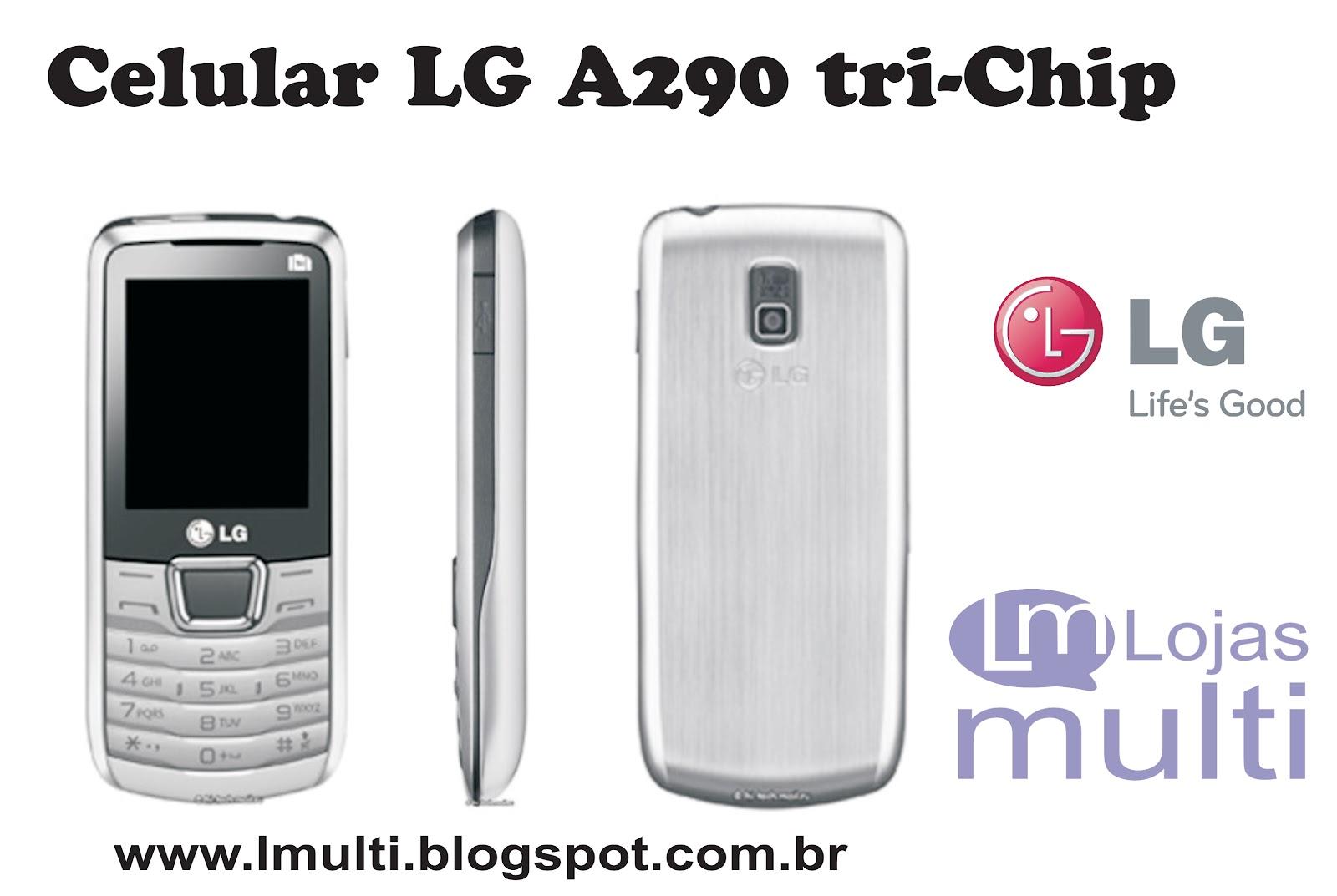 Celular Desbloqueado LG A290 Prata Tri Chip com Câmera