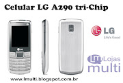 Celular Tri Chip LG A290Câmera de 1.3MP Bluetooth 2.1 MP3 Player Rádio FM
