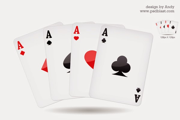 Playing Card Icon PSD