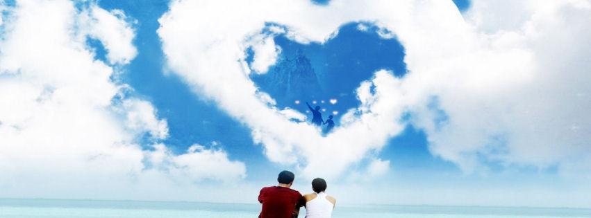 Buluttan kalp kapak resimleri