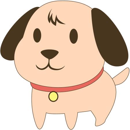 Perky puppy emoticon