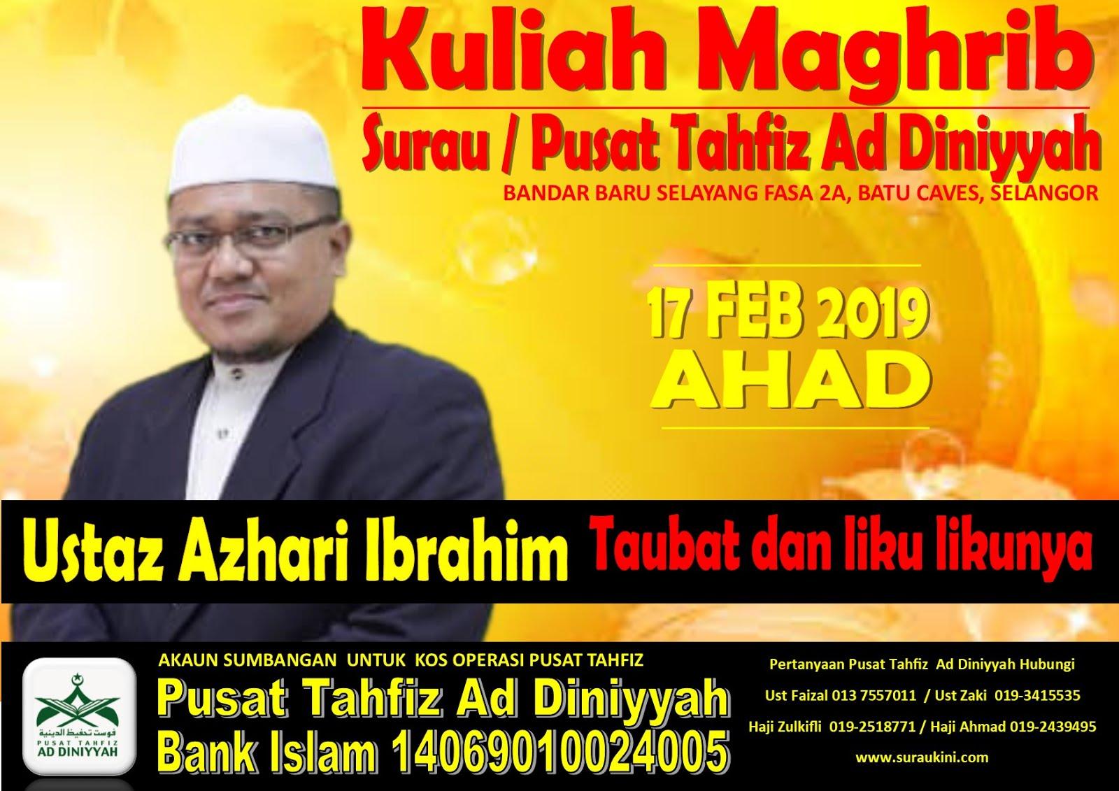 Kuliah Maghrib 17 Feb 2019