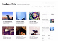 Minimalis and clean dsign blogspot template