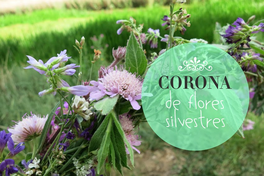 Diy corona de flores silvestres improvisado