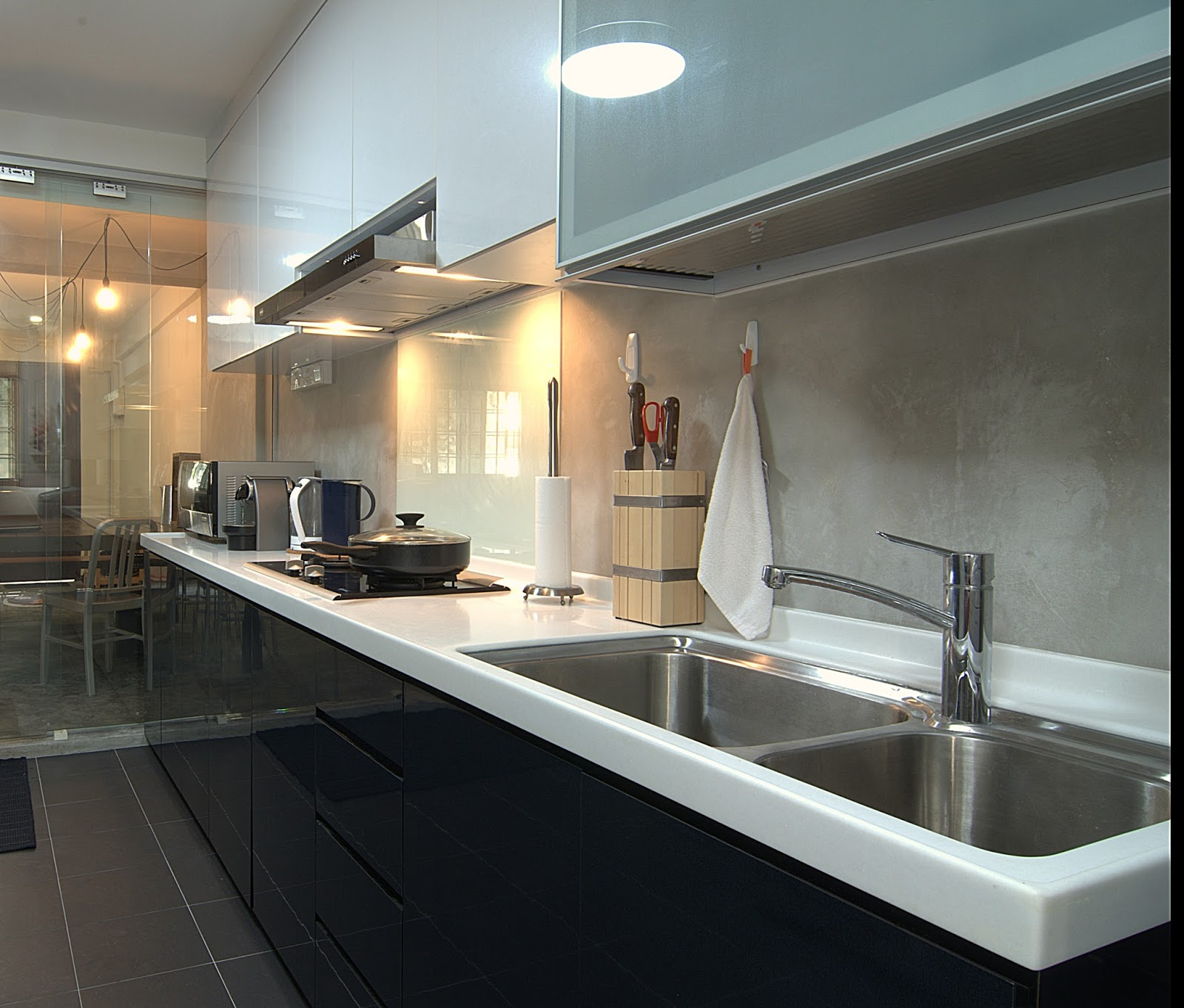 Industrial Kitchen Hdb: Interior Design Guide: HDB 4 Room Interior Design , Raw