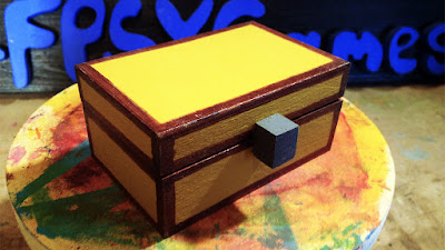 Making a mini wooden Minecraft chest from a craft box