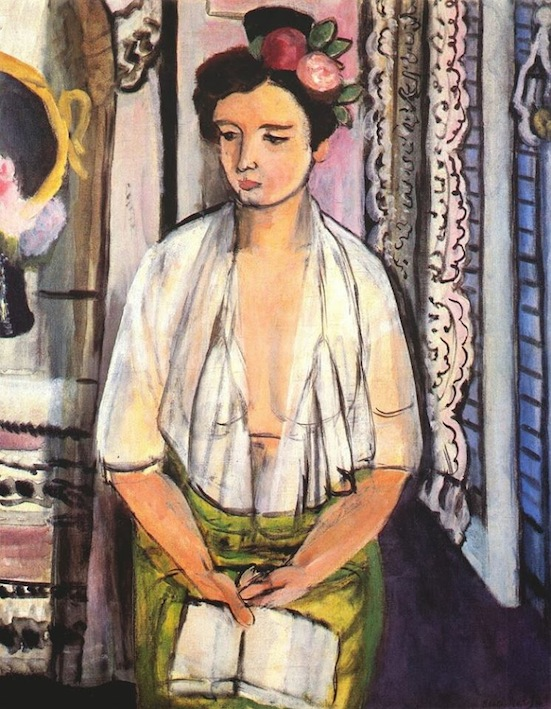 H. Matisse. Reader with Flowers in her Hair.