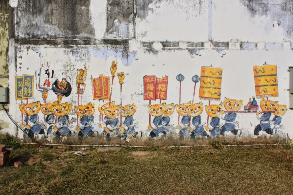 Penang street art - Cats & Humans Happily Living Together