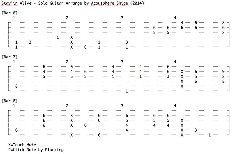 stayin alive guitar tab pdf
