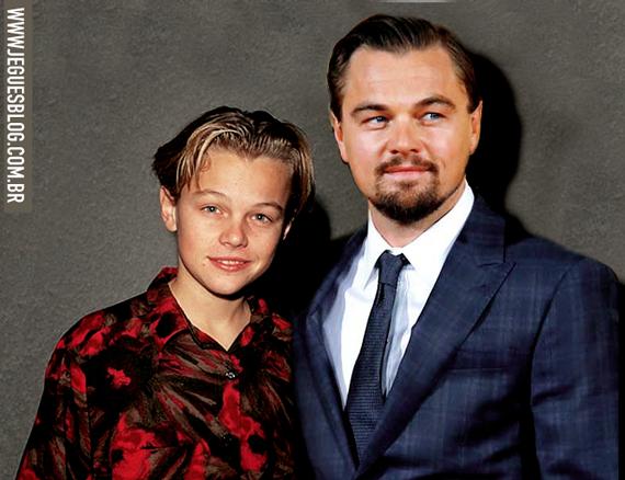 Leonarno DiCaprio atualmente e a alguns anos atrás
