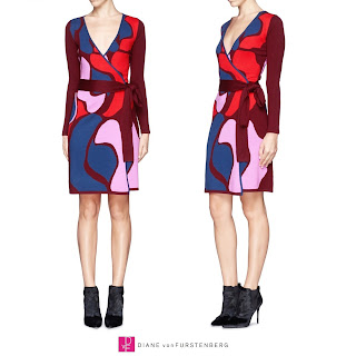 Diane von Furstenberg Linda Wool Wrap Dress - Princess Stephanie