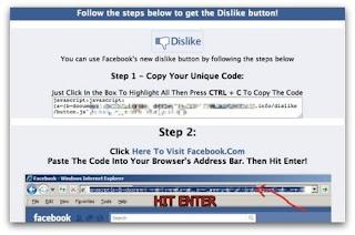 Facebook Dislike Button Scam - Beware
