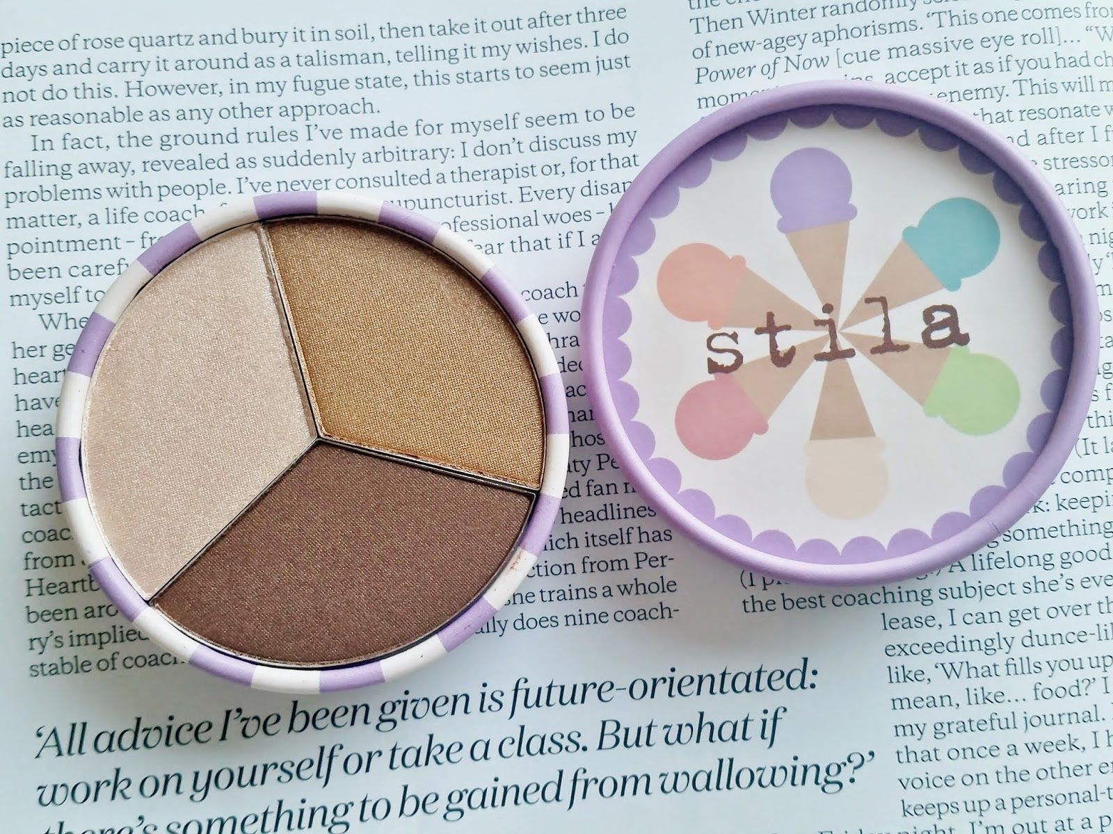 stila ice cream trio in mocha chip