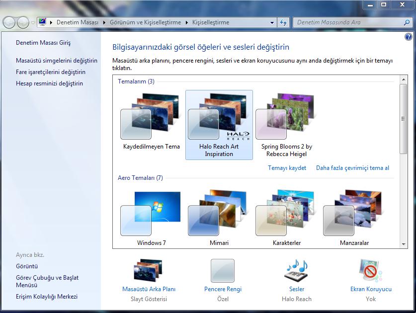 Windows'a farklı temealar bulun ya da yapın