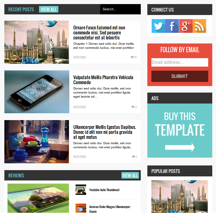 Free Geek Press Responsive Templates