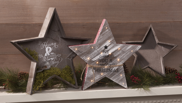 Wood Star Holiday Trays @craftsavvy @sarahowens #craftwarehouse #christmas #holiday #decor #diy