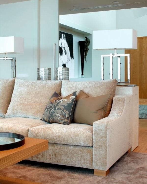sofa terciopelo beige