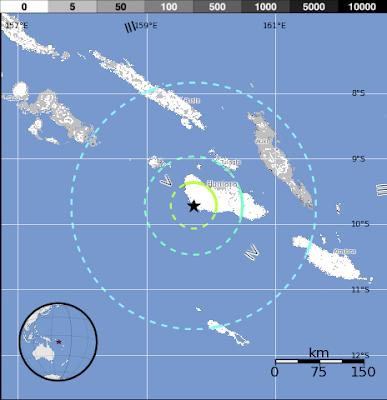 Epicentro sismo islas Salomon 25 de Julio 2012