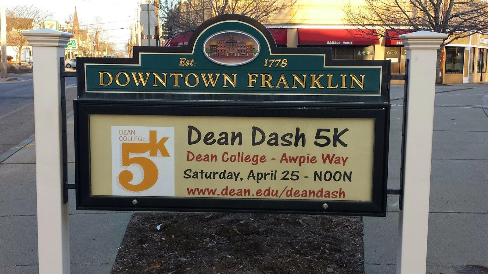 Dean Dash 5K - April 25 - noon