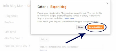 How To Download Complete Back Up of Blog