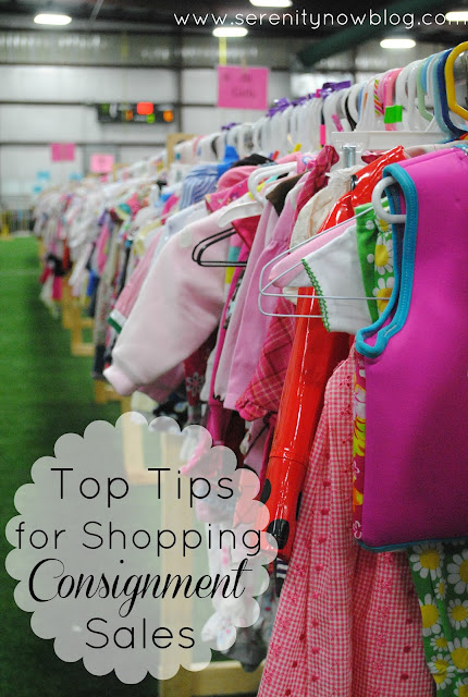 Tips for Shopping Kids' Consignment Sales, from Serenity Now blog