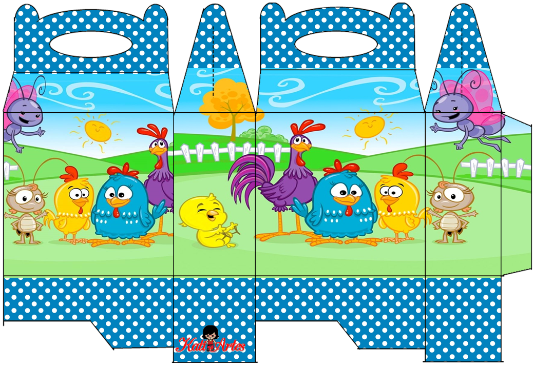 Lottie Dottie Chicken: Free Printable Lunch Box.