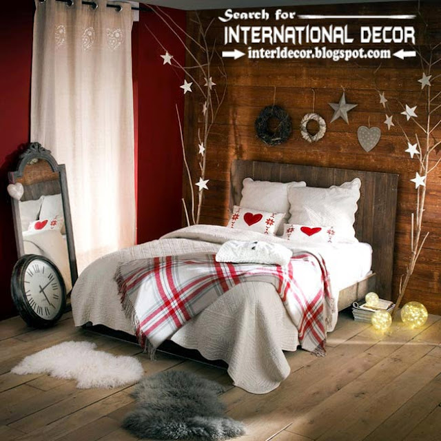how to decorate romantic bedroom in Christmas 2015 new year decor ideas for bedroom