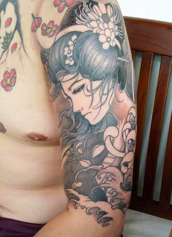 Geishas simbolismo origen y 60 ideas para tatuarse - Tattoos geishas japonesas ...