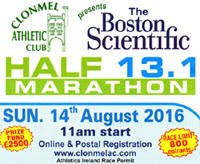 Clonmel Half-Marathon...Sun 14th Aug...Limit of 800 entries