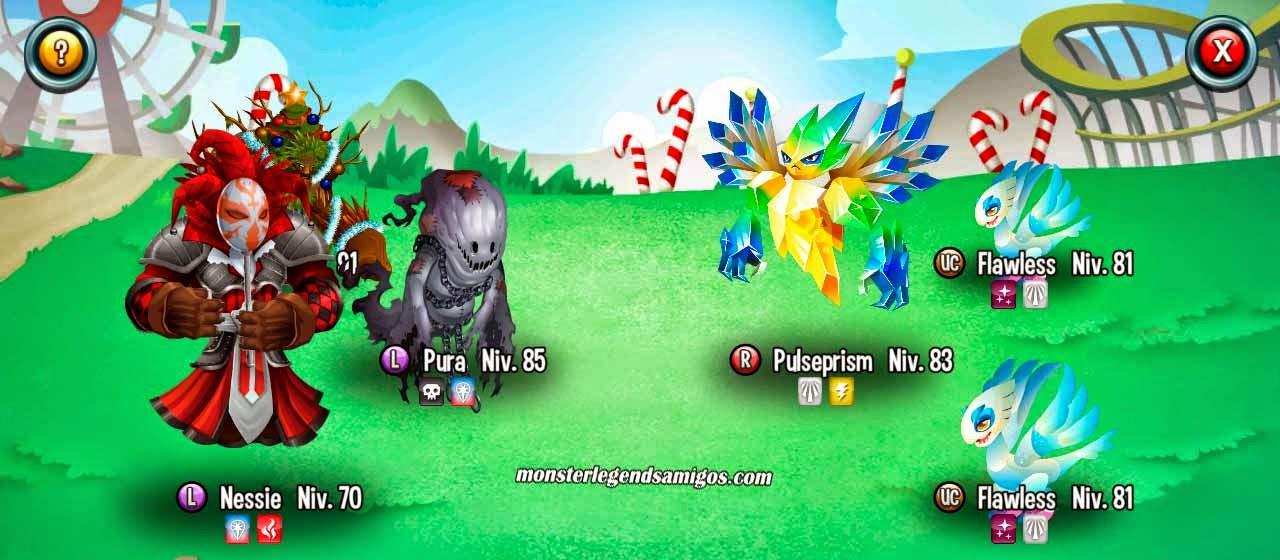 imagen de la primera batalla de la mazmorra de oro de monster legends