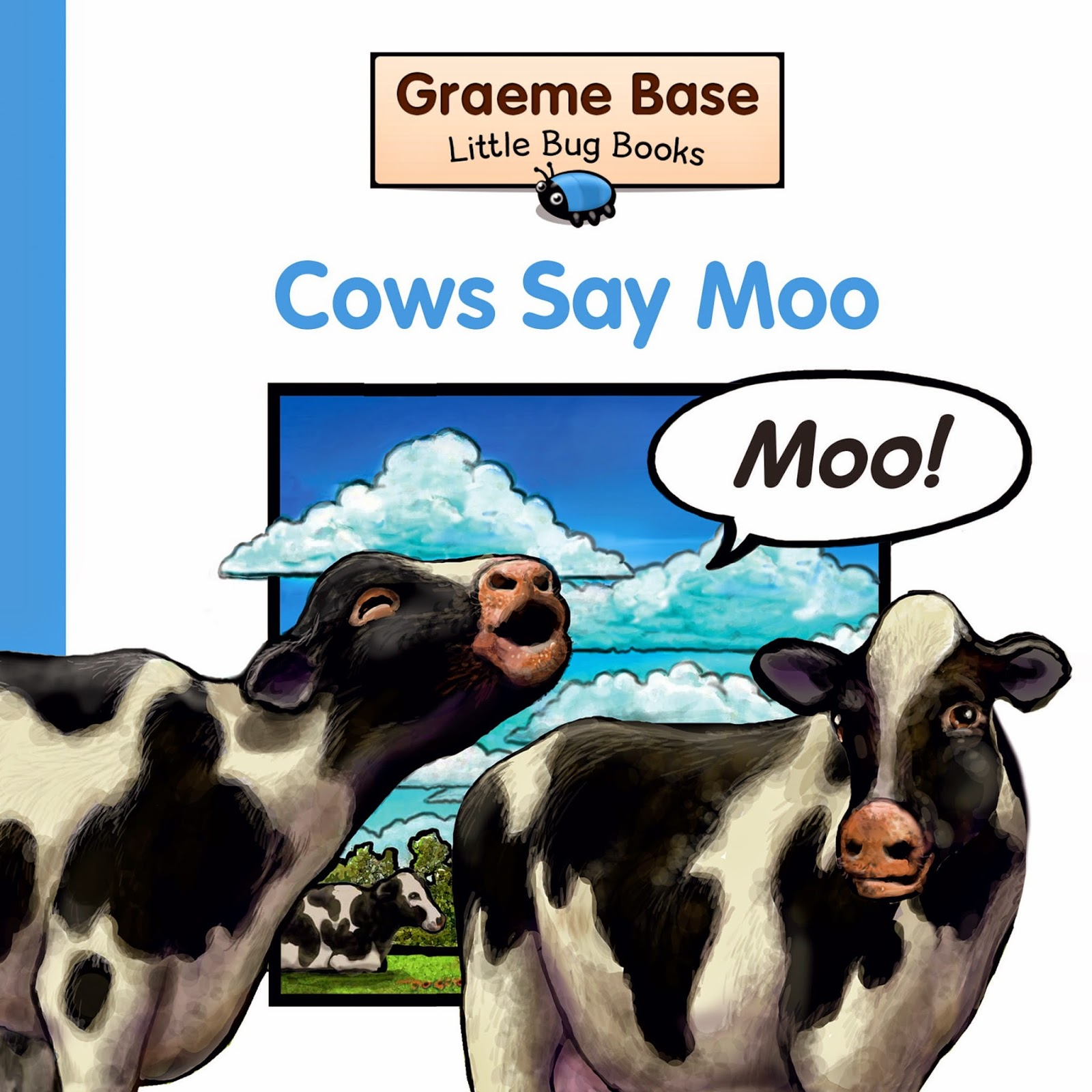 Review of Cows Say Moo by Graeme Base