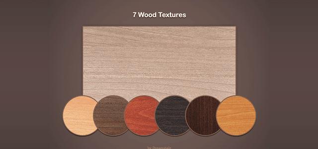 インテリア家具の木材として使われていそうなお洒落な木目テクスチャー7枚セット