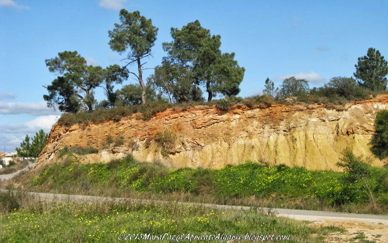Algarve hill -layers exposed