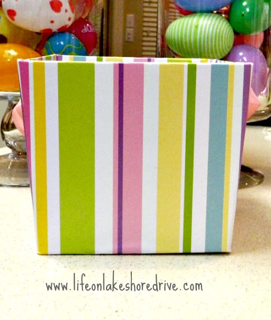 Easter Egg Spring Decor Arrangement, dollar store basket makeover