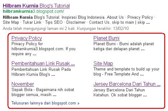 Sitelink Hilbram Kurnia Blog's