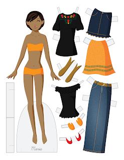Maria - Fashion Friday Paper Doll