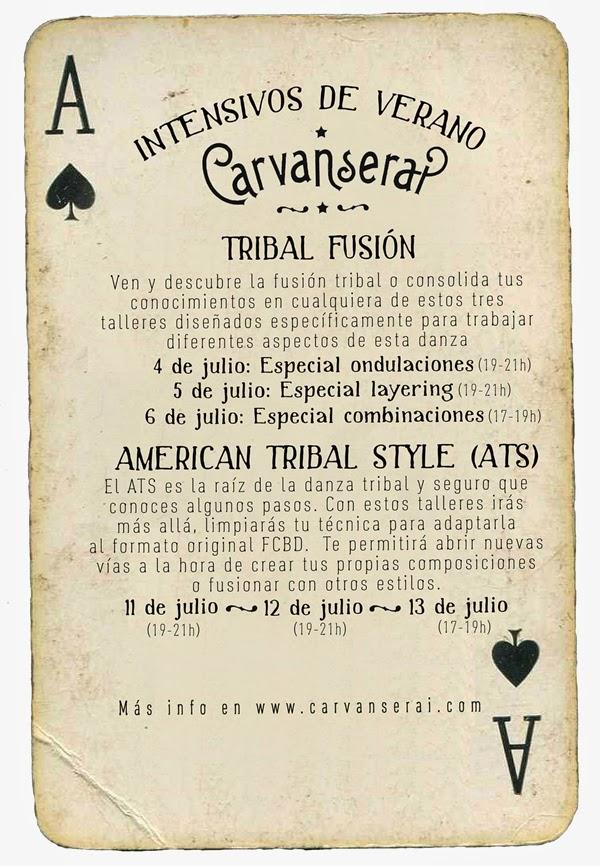 Cursos intensivos de tribal fusion y ATS en Madrid con Alicia López