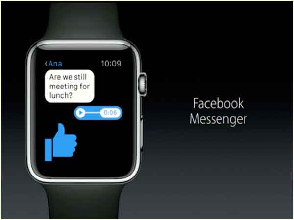Messenger en Apple Watch