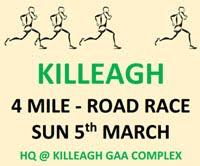 4 mile race in Killeagh...Sun 5th March 11am