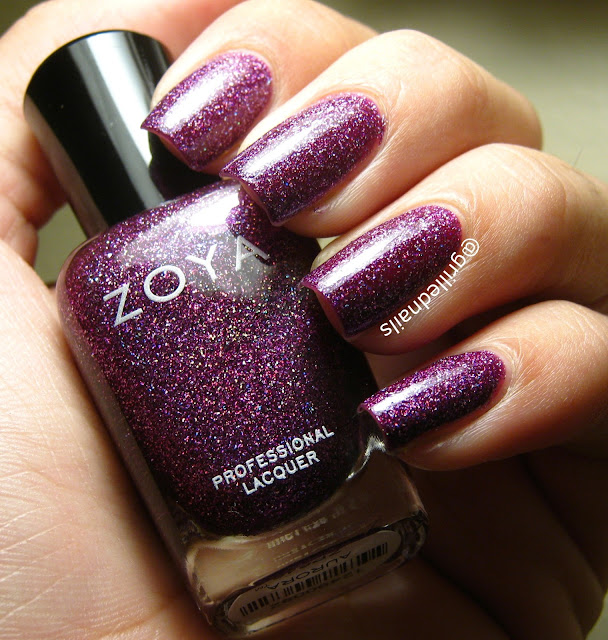 Zoya aurora swatch nails