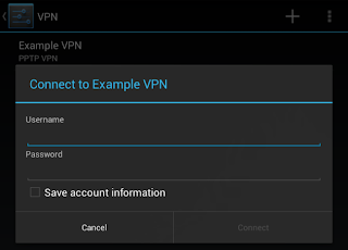 While connected to the VPN