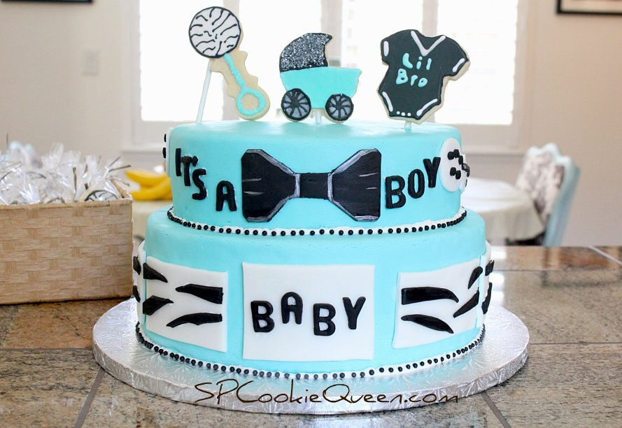 SPCookieQueen: I gave birth to a baby shower cake!