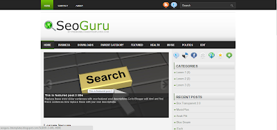 SeoGuru, Template Blog SEO