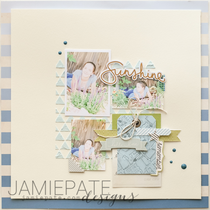 @jamiepate for @pinkpaislee Scrapbook page capturing the everyday of this daughter and sister. The Pink Paislee Atlas Collection brings it together perfectly.