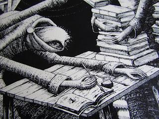Phlegm comics, book, reading, street art,