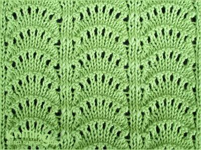 Peacocks Tail Knitting Stitch Patterns