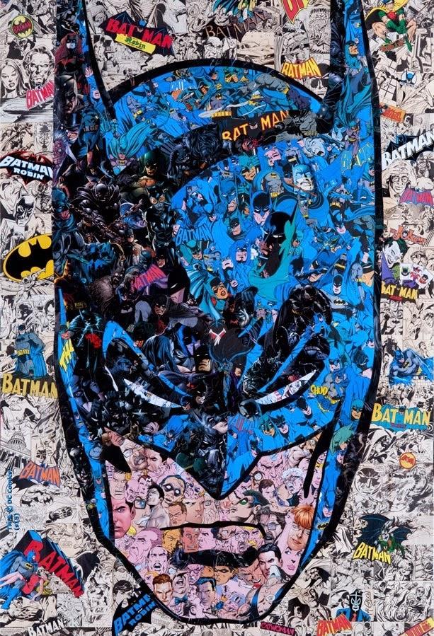 Batman 75th Anniversary Screen Print Series - Batman (Head) by Mr Garcin
